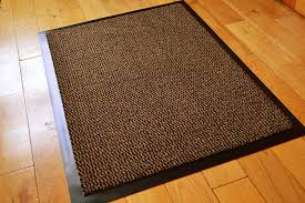 BROWN HEAVY DUTY NON SLIP RUBBER BARRIER RUG SMALL MEDIUM EXTRA ...