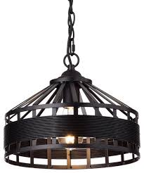 rustic vintage barn metal hanging chandelier with chain oil rubbed bronze pend