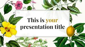 Flower Powerpoint Free Original Powerpoint Template Or Google Slides Theme