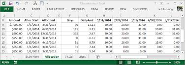 Salary Chart In Excel Format Excel Formula To Allocate An Amount Into Monthly Columns