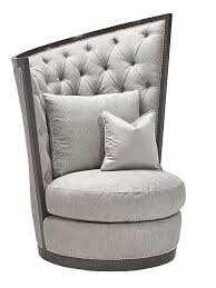 calypso chair shown with boxed cushion seaton tufted back ay finishmerengue nailhead frame trim