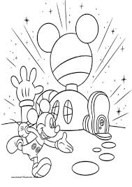 Mickey Mouse Club House Coloring Pages Football Helmet Coloring