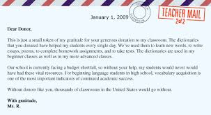 Thank You Letter For Donations Cool DonorsChooseorg Impact Letter Example