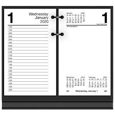 Academic Calendar 2020 17 Template At A Glance 2020 Daily Desk Calendar Refill 3 1 2 X 6 Desk Size Loose Leaf E7175020