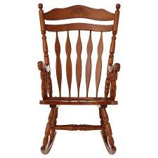 rubberwood rocking chair nursery stool furniture oak plywood rustic brown glider