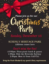 Glossy Christmas Party Invitation Poster Flyer Idea Free