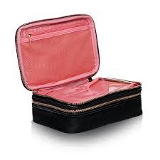 makeup brush bag black