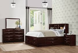 espresso bedroom set. Contemporary Set Roundhill Furniture Ankara Wood Bedroom Set Includes King Bed Dresser  Mirror With Nightstand For Espresso Set