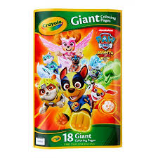 Crayola Paw Patrol Giant Coloring Pages Gift For Kids Age 3 4 5