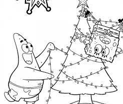 Spongebob Christmas Coloring Pages Printable Festival Collections