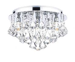 bathroom lights ip44 dar fri0450 fringe ip44 crystal bathroom flush ceiling light from