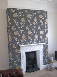 Wallpaper Living Room Feature Wall Scion Cushion Fireplaces The Fireplace And Room Wallpaper