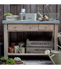 garden potting table in spruce with