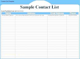 Cute Contact List Template Business Address Book Template 6 Printable Free