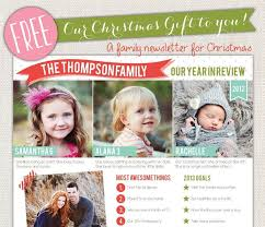 Free Christmas Family Newsletter Template Festival Collections