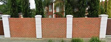 brick fences.  Brick Brick Fence In A Row With Fences R