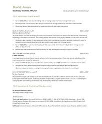 System Analyst Sample Resume Resume Template Business Analyst ...