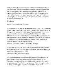 sample essay on bp oil spill recommendation 7