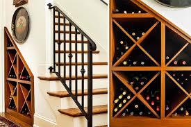 wine storage design. Rightwise. Sapele under staircase ...