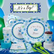 prince theme baby shower tableware