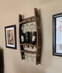 wood wine rack wall mounted wine glass