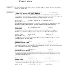 Lovely Example Of Security Guard Resume For Your Security Guard