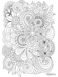 Downloadable Adult Coloring Pages Butterfly And Flower Coloring