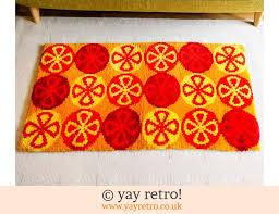 best ever vintage rug bright red orange 55 00