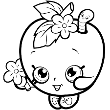 Are you looking for free coloring worksheets? Shopkins Apple Blossom Shopkin Coloring Pages Cute Coloring Pages Apple Coloring Pages