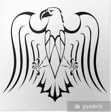 Plakát Silueta Orel Tetování