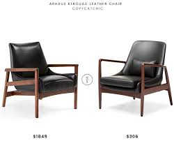 faux leather chair. Arhaus Kerouac Leather Chair $1849 Vs Mid Century Faux $306 Wood