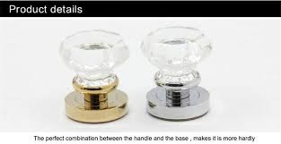 clear door glass handles and pulls with lock features are superior quality raw materials are used k9 crystal the most suitable for installation on