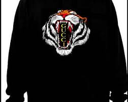 gucci inspired clothing. gucci inspired tiger head hoodie m/l with hand painted details clothing a