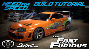 toyota supra fast and furious green. need for speed 2015 the fast u0026 furious brianu0027s toyota supra build tutorial how to make youtube and green