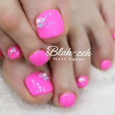 Blah Zeh Nail Salonschool On Twitter 夏ネイル ネオンピンク
