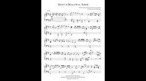 What A Beautiful Name Piano Simplified Piano Arrangement With Sheet Music