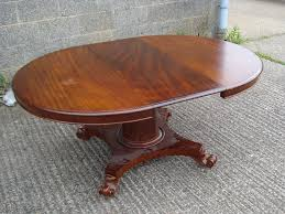 late regency round table large regency round extending pedestal dining table to seat 10 people