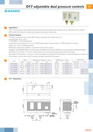 o dual pressure controls catalogue gb ranco pdf catalogue o17 dual pressure controls catalogue gb 1 1 pages
