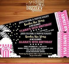 Printable Under the Stars Movie Ticket Birthday Invitation Movie Night F…  in 2020 | Movie night invitations, Movie ticket birthday invitations,  Ticket invitation birthday