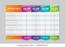 Pricing Table Templates Pricing Table Templates Stock Illustrations Images