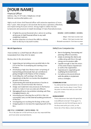Another Name For Resume Chief Financial Officer Resume Template For Word Word