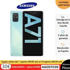 Điện Thoại Samsung Galaxy A71, Màu Xanh Dương, Bộ Nhớ Trong 128 GB, RAM 6  GB, FHD + 6.7