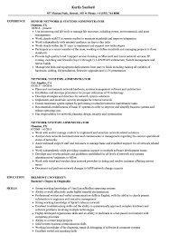 resume system administrator network systems administrator resume samples velvet jobs