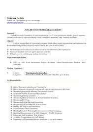 Job Profile Of Document Controller Document Controller Cum Secretary