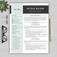How To Create A Modern Resume In Word Professional And Modern Resume Template For Word Cv