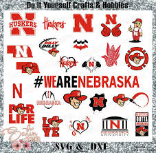 Football Svg Designs Nebraska Cornhuskers Set Design Svg Files Cricut Silhouette Studio Digital Cut Files