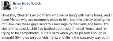 brian welch facebook screenshot