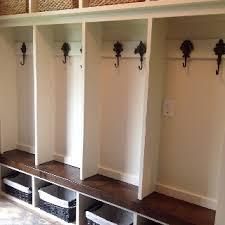 diy mudroom lockers with black walnut bench and pottery barn zonia mudroom locker plans diy l68 plans
