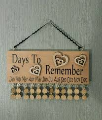 birthday reminder plaques 21 best birthday calanders images on