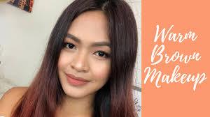warm brown makeup tutorial tan skin
